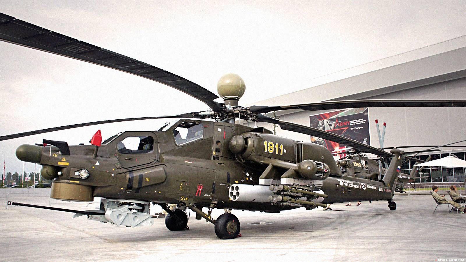 Ударный вертолет Ми-28НЭ. Форум «Армия-2017»