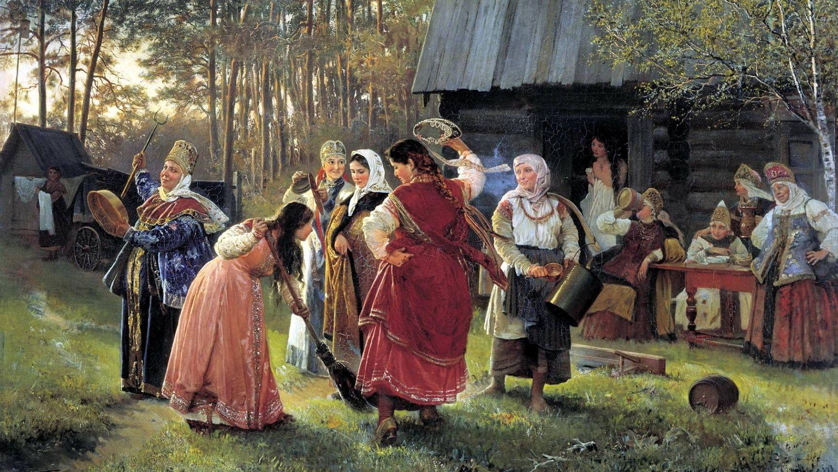 Алексей Корзухин. Девичник. 1889