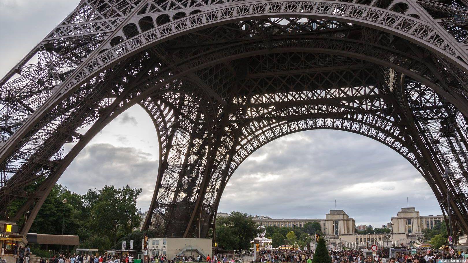 Эйфелева башня, Париж, Франция.
