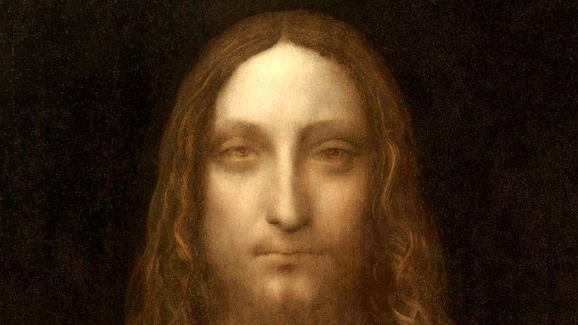 Леонардо да Винчи. Спаситель мира (фрагмент) 1499