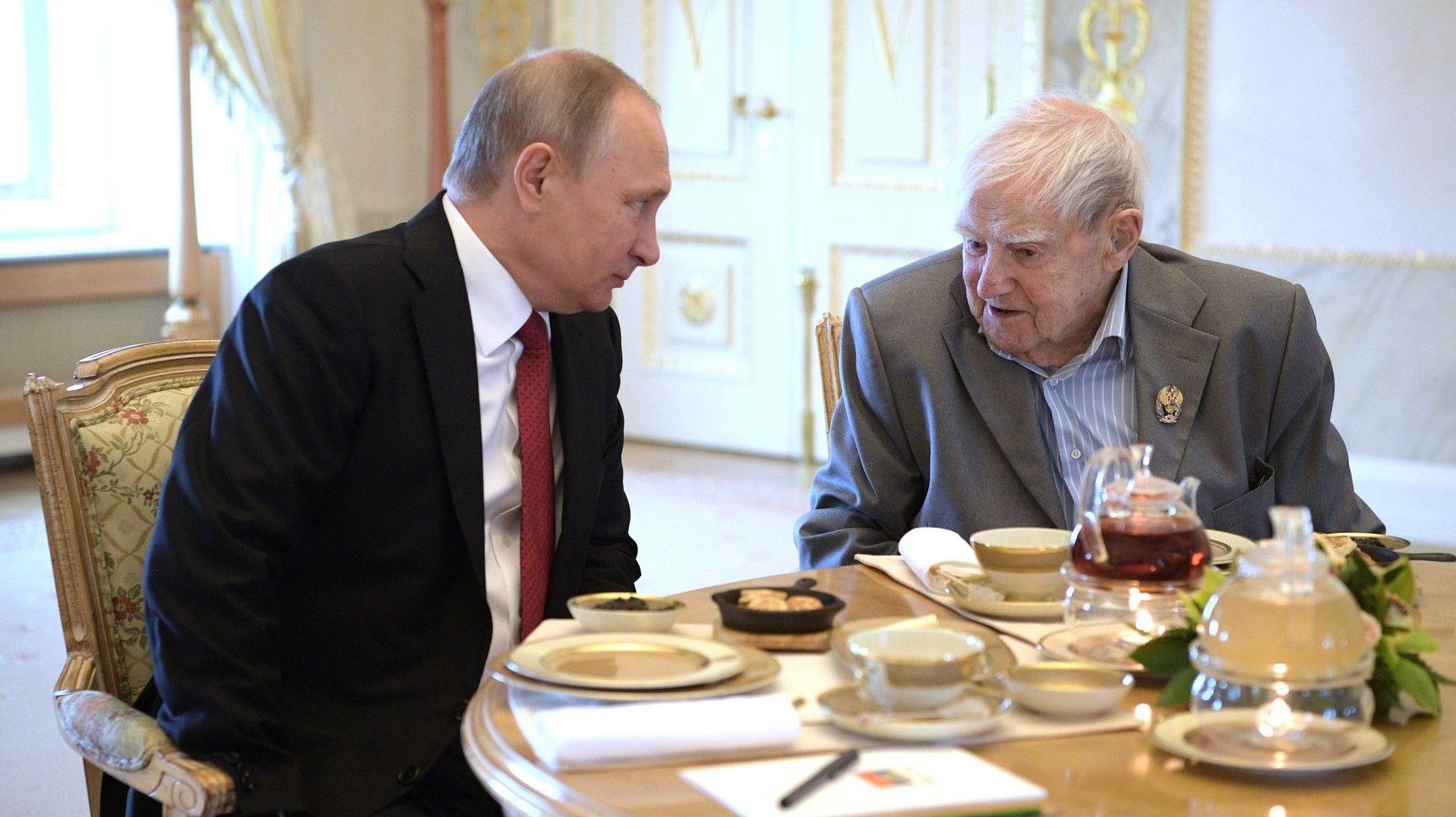Путин подписал указ опраздновании в 2019г  100-летнего юбилея Гранина