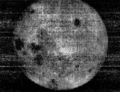 Фотография обратной стороны сделана 7 октября 1959 советской АМС Луна-3,