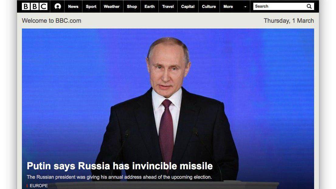 Владимир Путин в западных СМИ