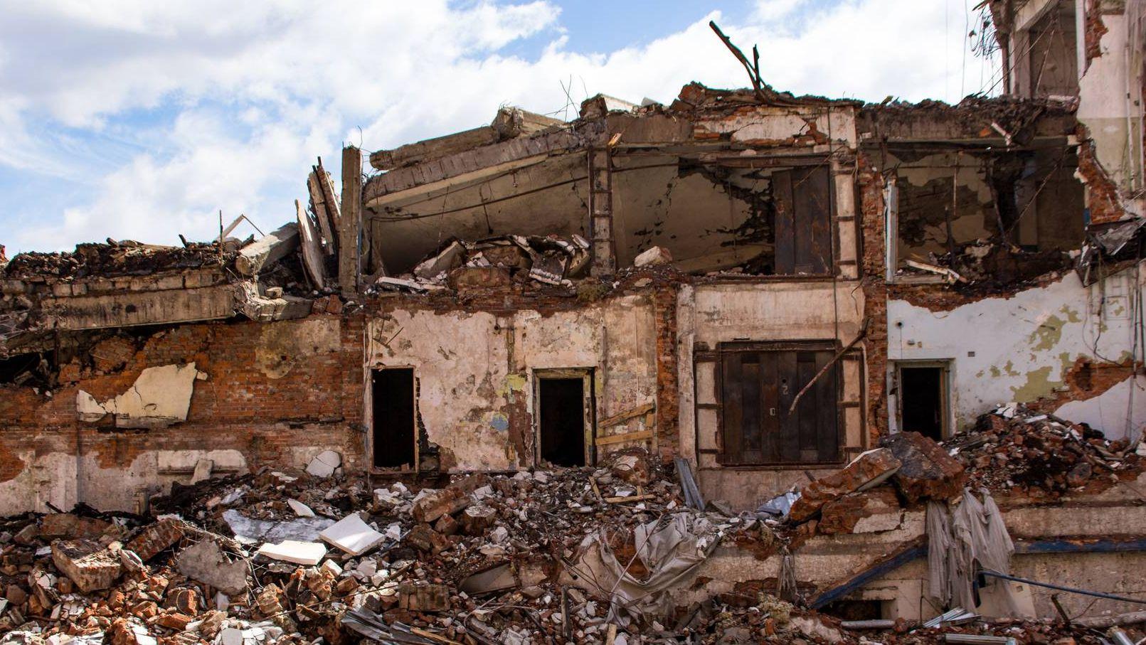 Москва. Снос здания