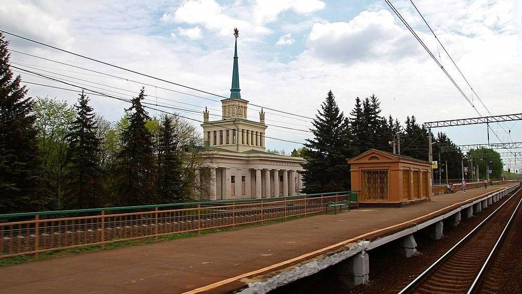 Вокзал станции Ленинская 1954 года