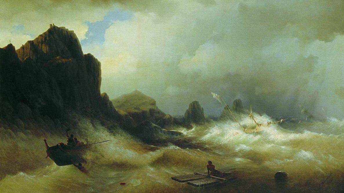 Буря шторм Иван Айвазовский. Кораблекрушение. 1843