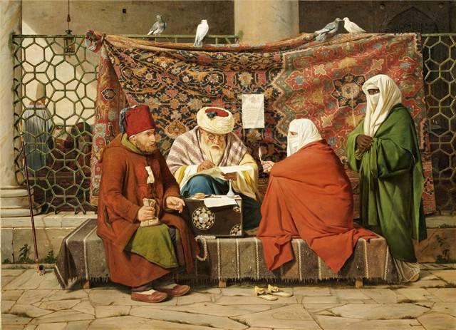Мартинус Рёрбюе. Турецкий нотариус составляет брачный контракт. 1837