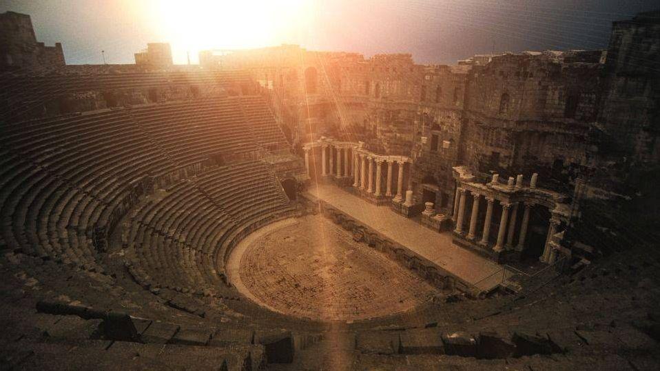 Римский театр, bosra, сирия