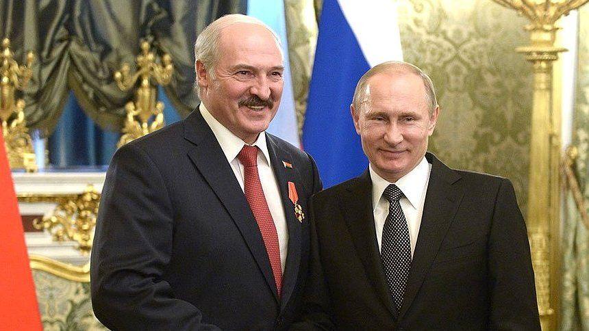 Одна из встреч Путина и Лукашенко