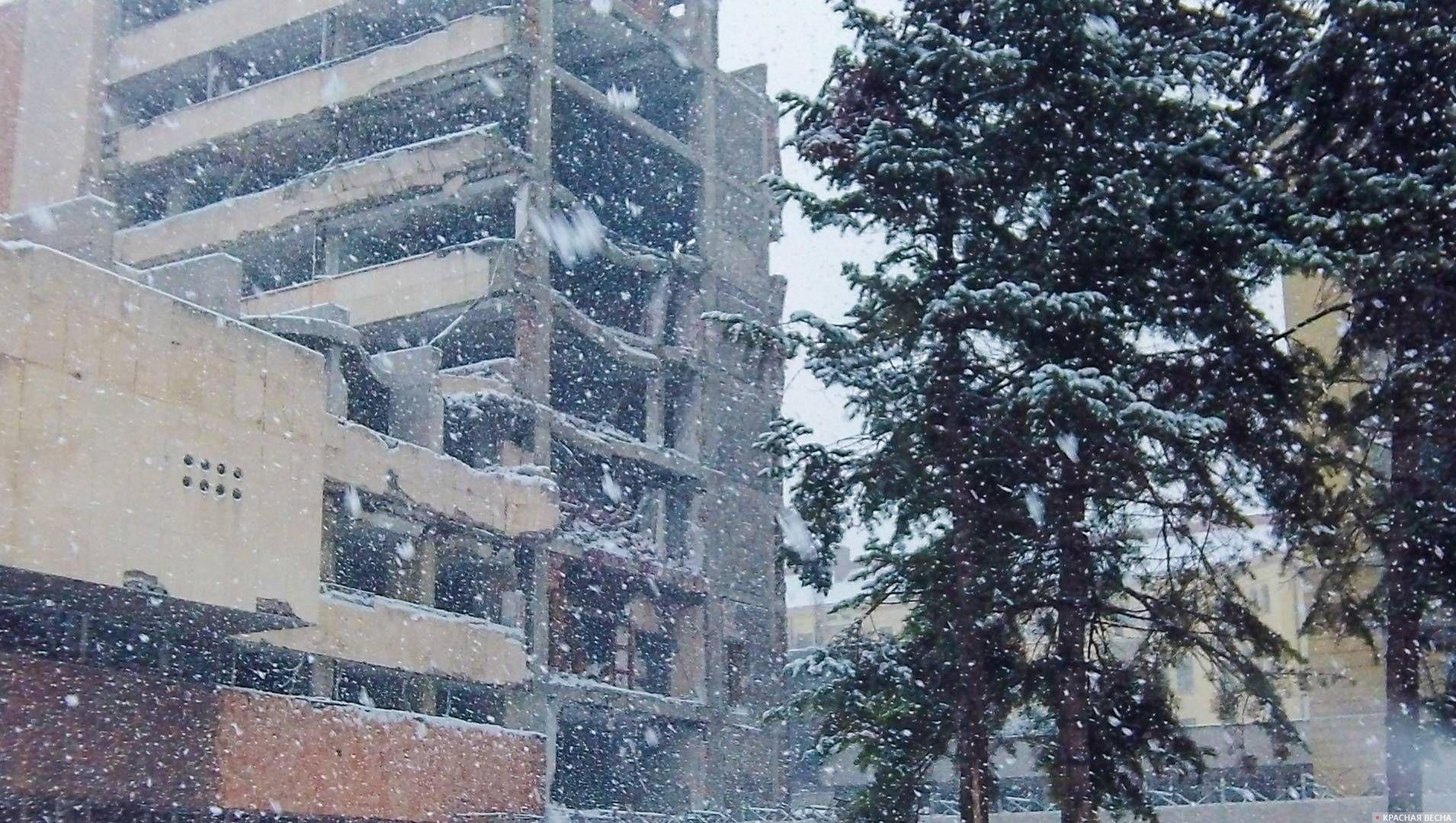 Разрушенный Главный штаб Вооруженных сил Сербии, Мемориал бомбардировкам НАТО, Белград, Сербия