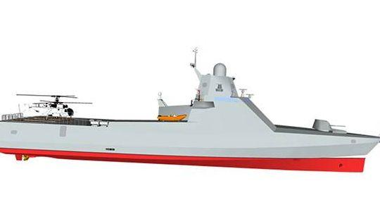 Макет патрульного корабля проекта 22160