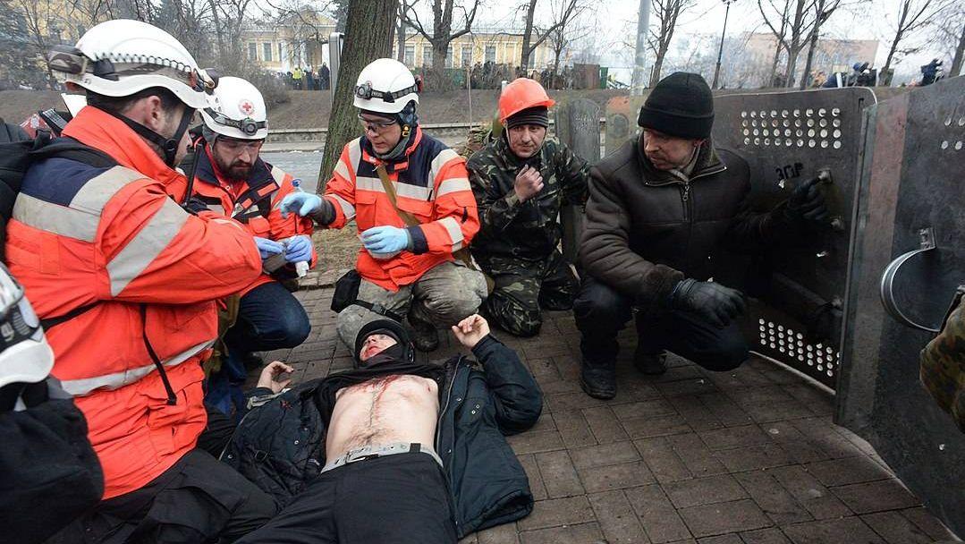 Растрел активистов майдана в 2014 году
