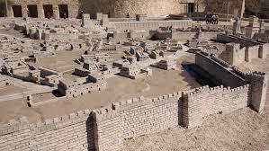 Музей Израиля. Макет старого города периода второго храма. Иерусалим.