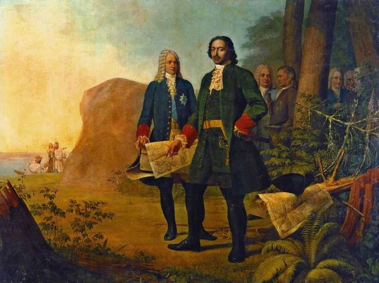 Алексей Гаврилович Венецианов. Петр Великий. Основание Санкт-Петербурга. 1838