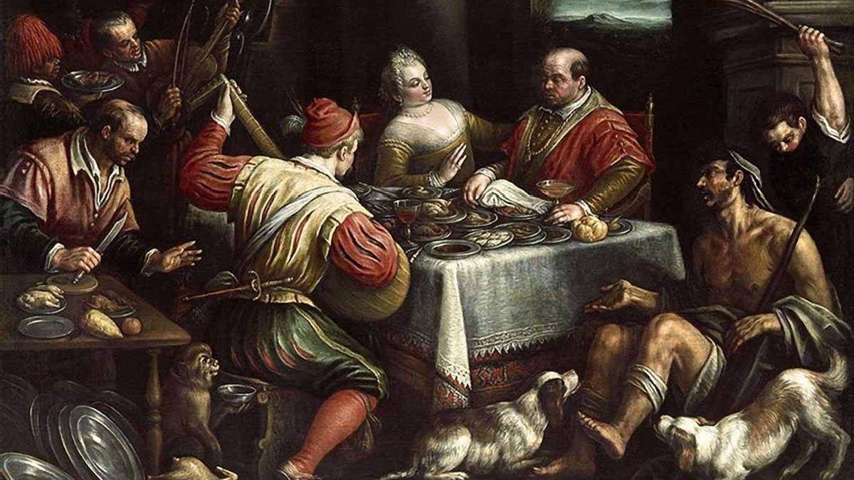 Леандро Бассано. Богач и нищий. 1595