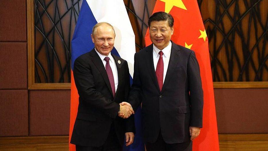 Президент РФ Путин В. В. и председатель КНР Си Цзиньпин