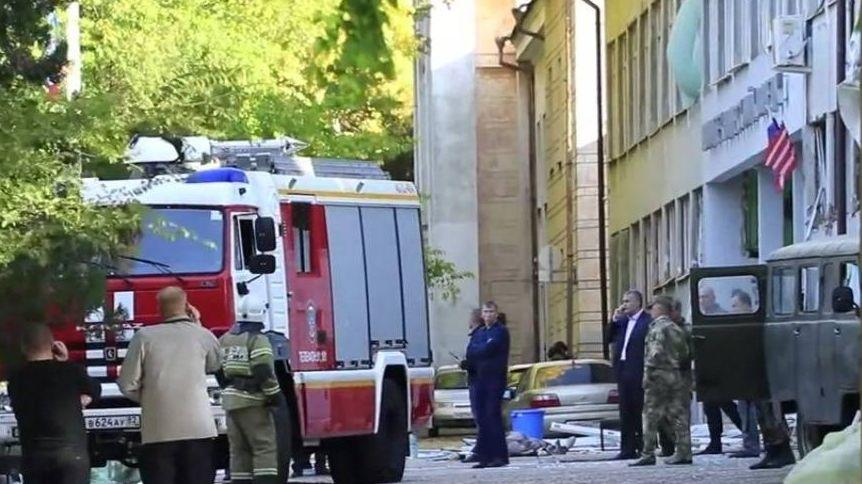 Керченский политехнический колледж после атаки