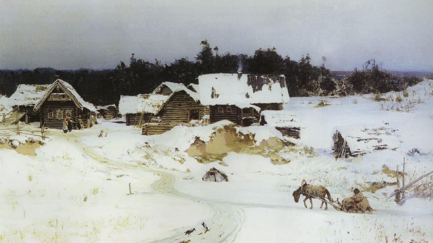 Василий Поленов. Зима. Имоченцы. 1880