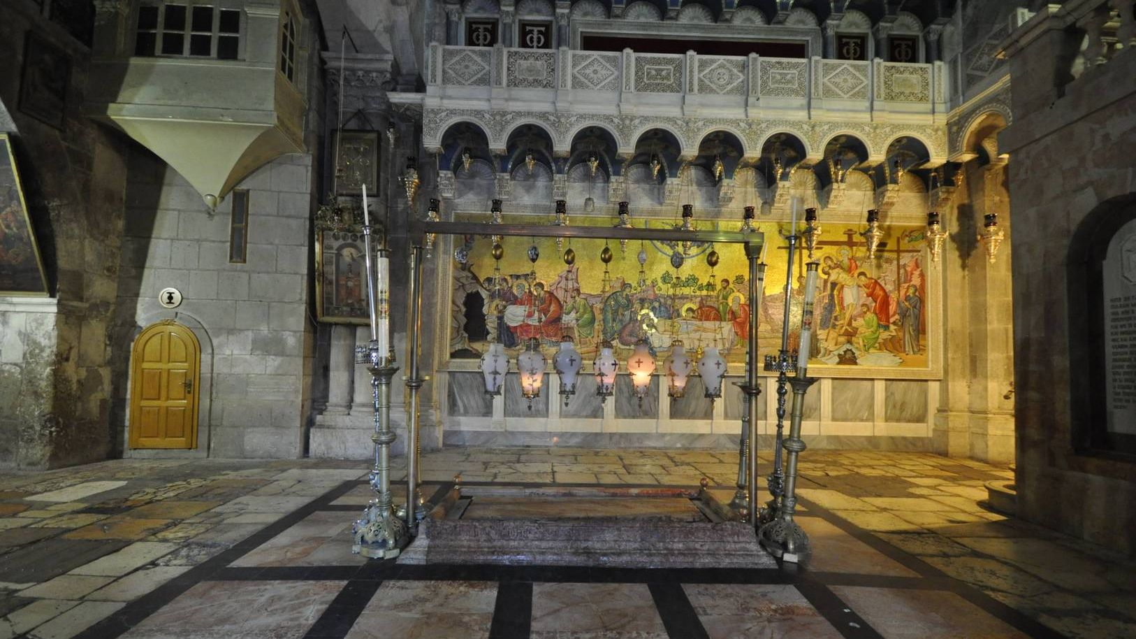 The Stone of Anointing - The Church of the Holy Sepulchre