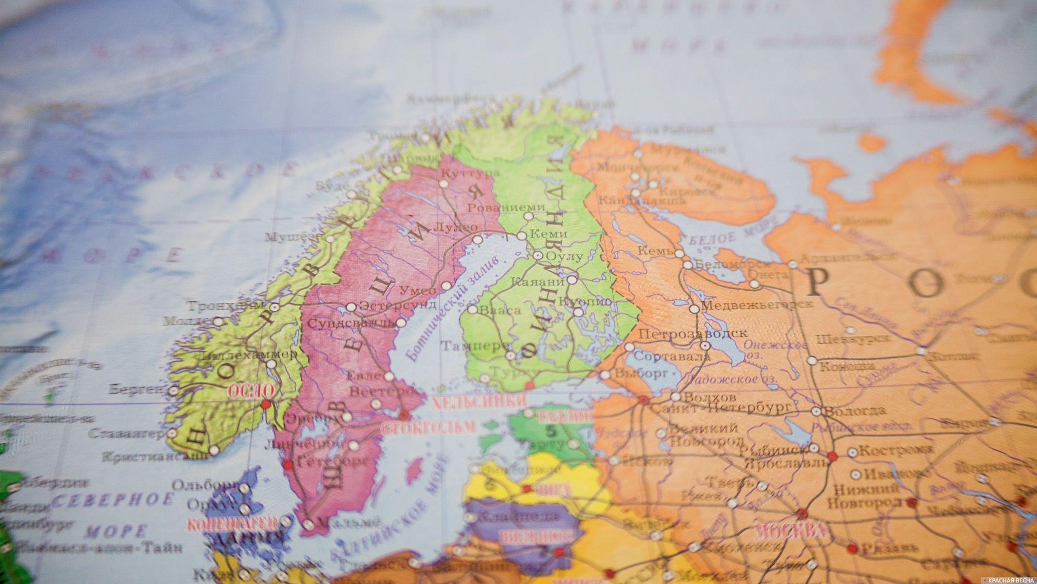 Швеция и Финляндия на Карте мира