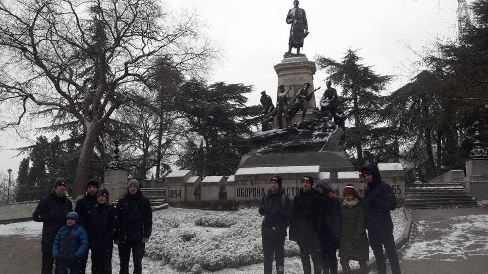 Памятник Тотлебену. Севастополь. 07.01.2019