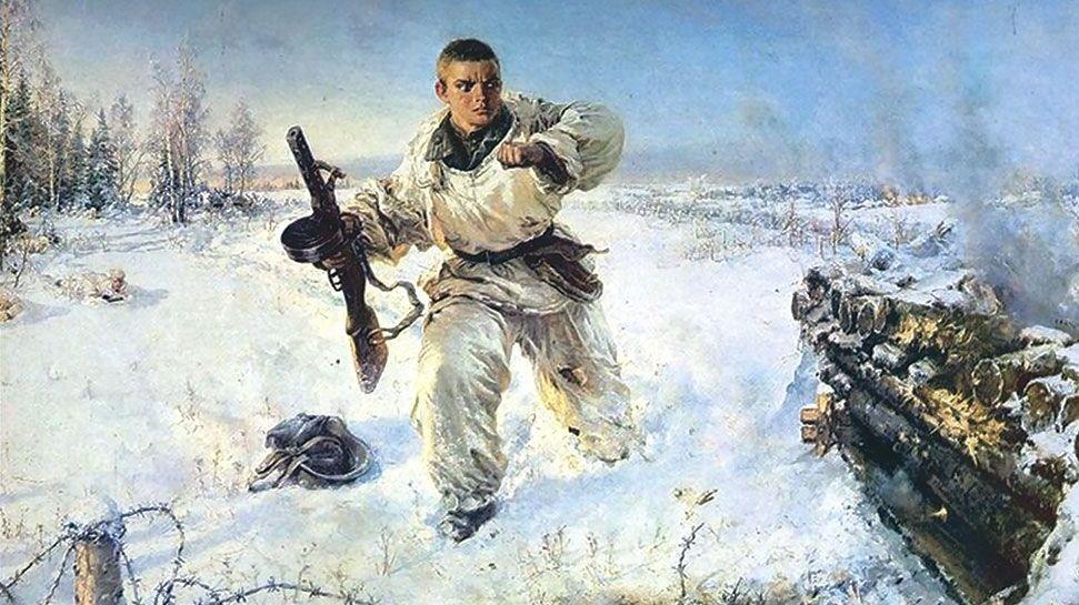 В. Е. Памфилов. Подвиг Александра Матросова