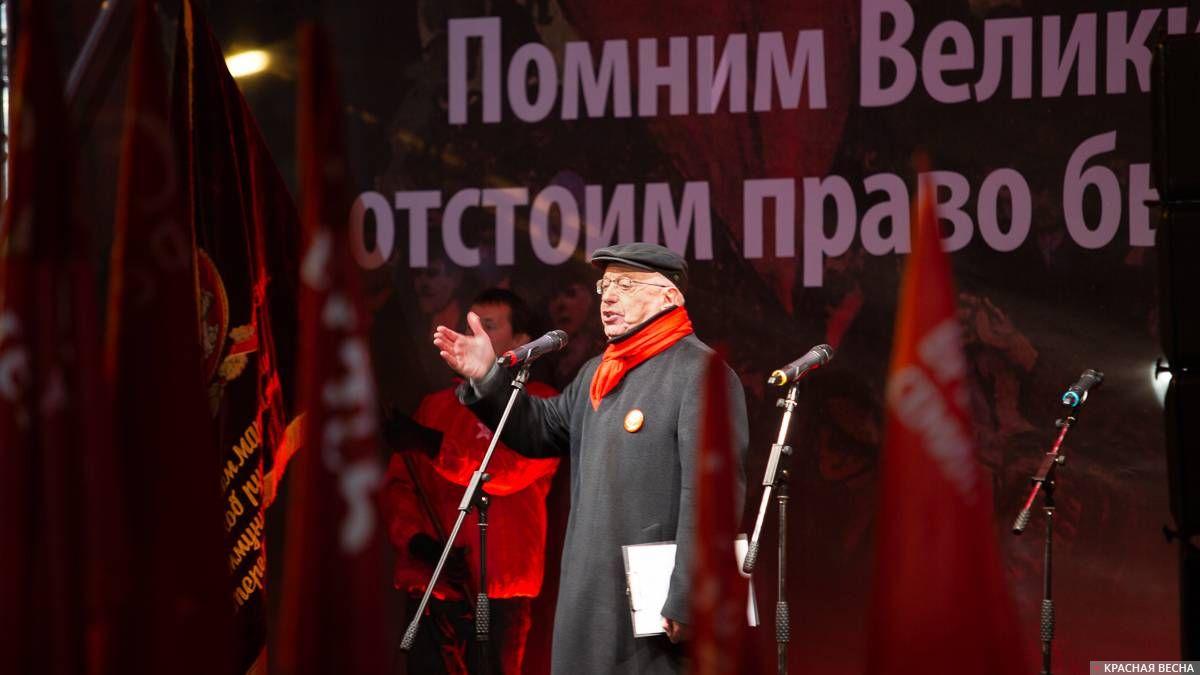 Сергей Кургинян на митинге движения «Суть времени» 7 ноября 2019 года