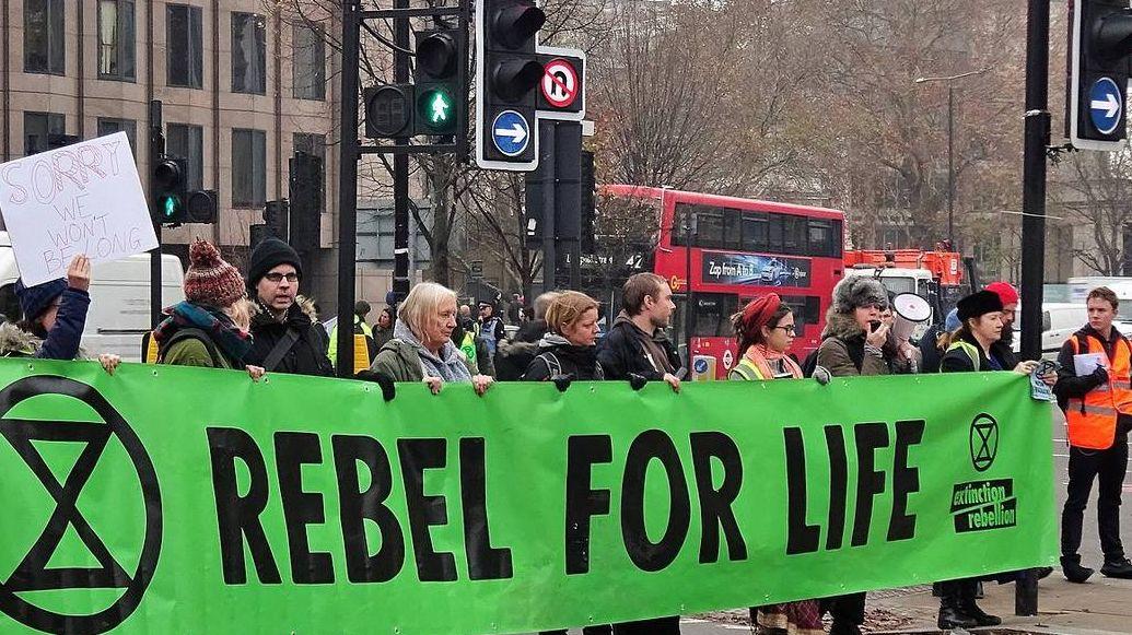 Акция общественного движения «Extinction Rebellion». Лондон