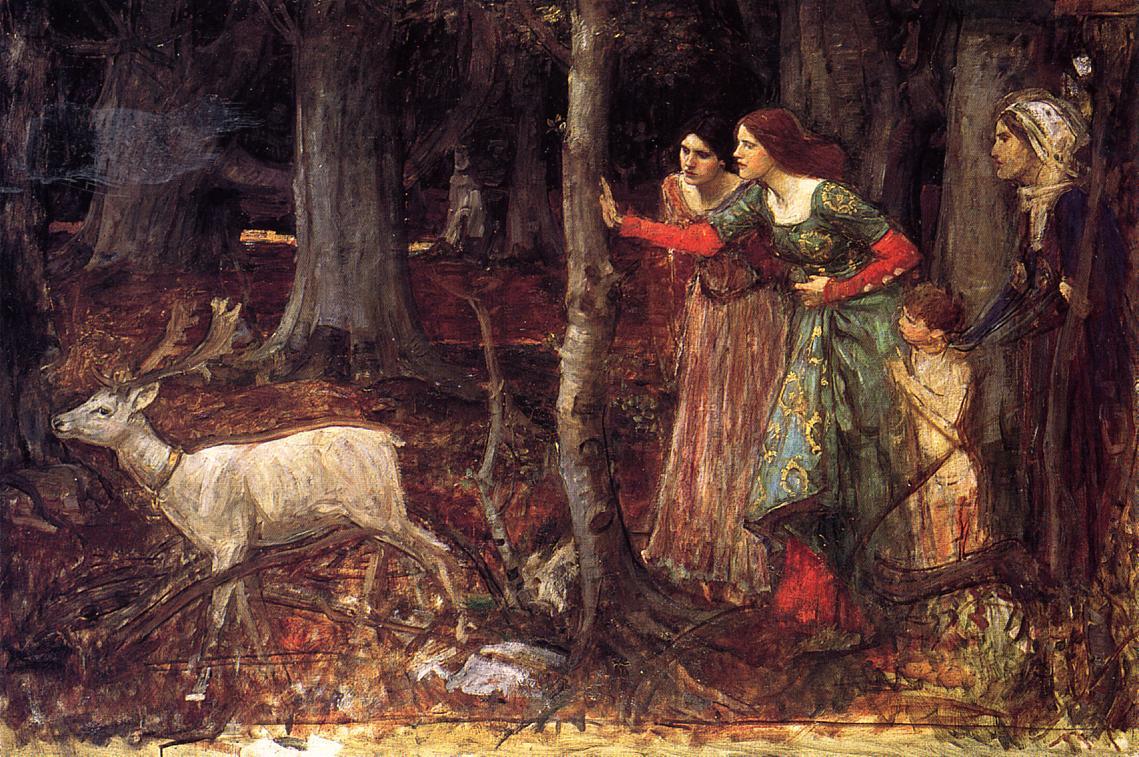 Джон Уотерхаус. Таинственный лес. 1917