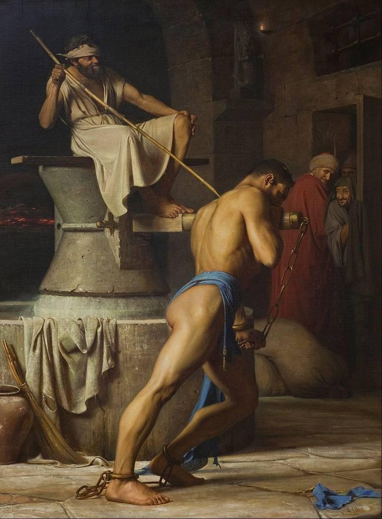 Карл Блох. Самсон и филистимляне. 1863
