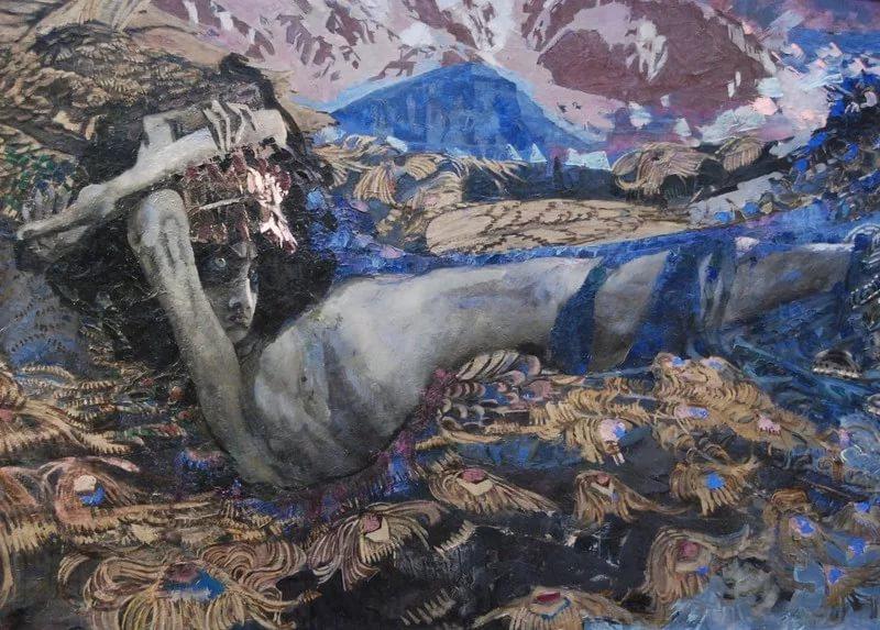 Михаил Врубель. Демон поверженный. 1902 год. Фрагмент