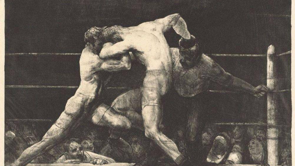 Джордж Уэсли Беллоуз. Бой у Шарки(фрагмент). 1917