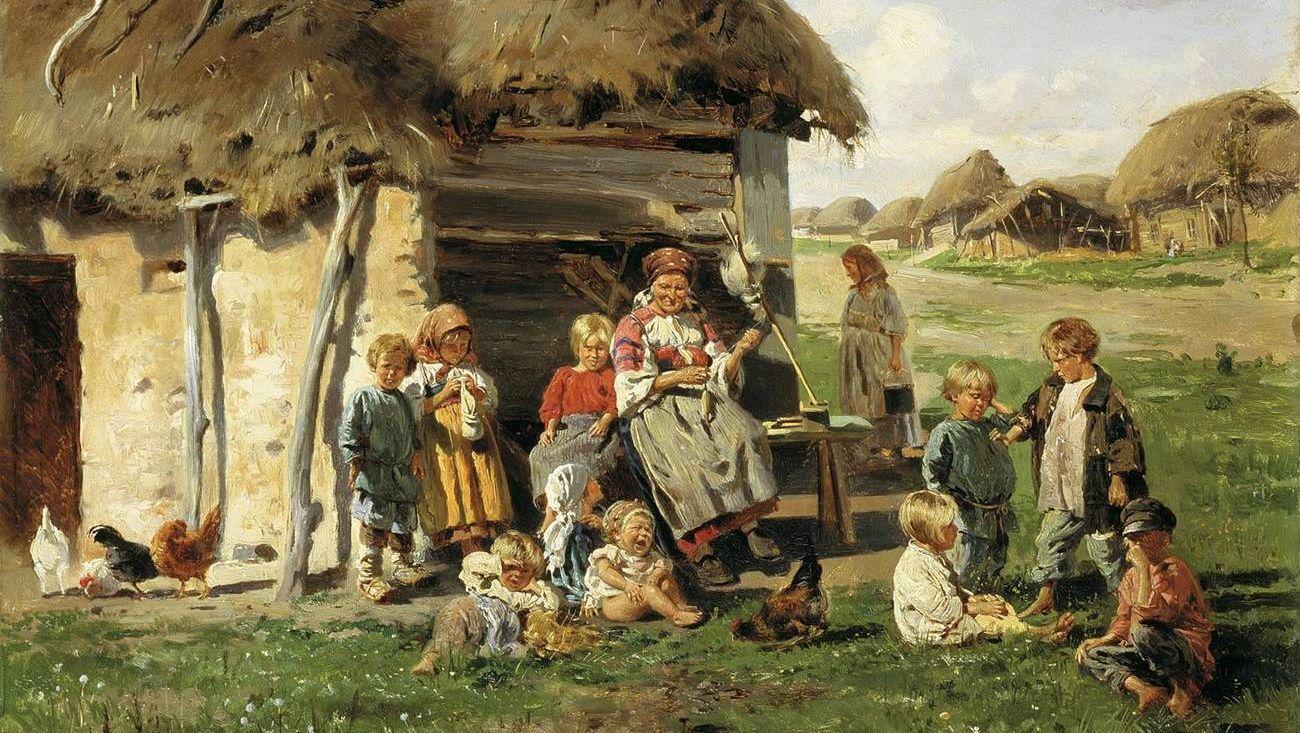 Маковский Владимир. Крестьянские дети. 1890