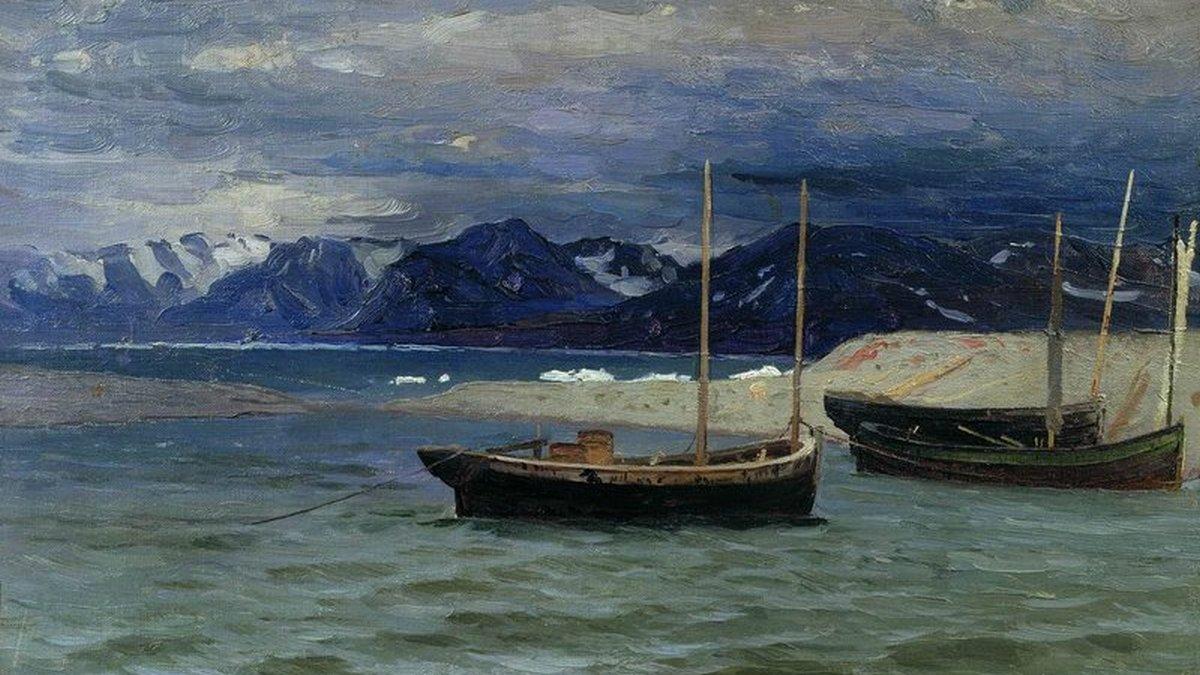 Александр Борисов. Северный пейзаж. 1896.