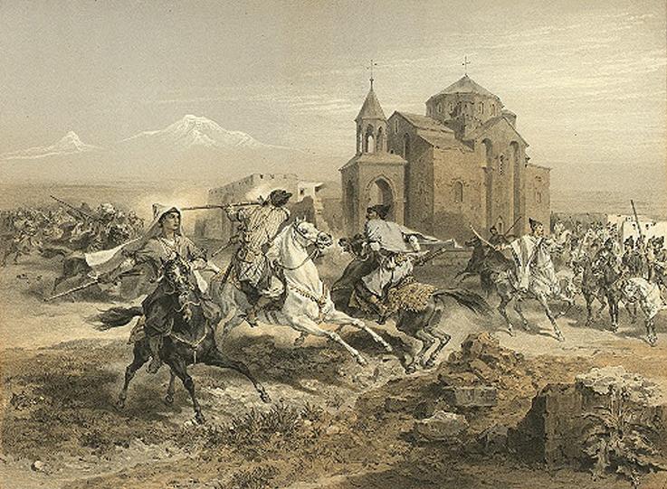 Григорий Гагарин. Курды и персы атакуют Вагаршапат
