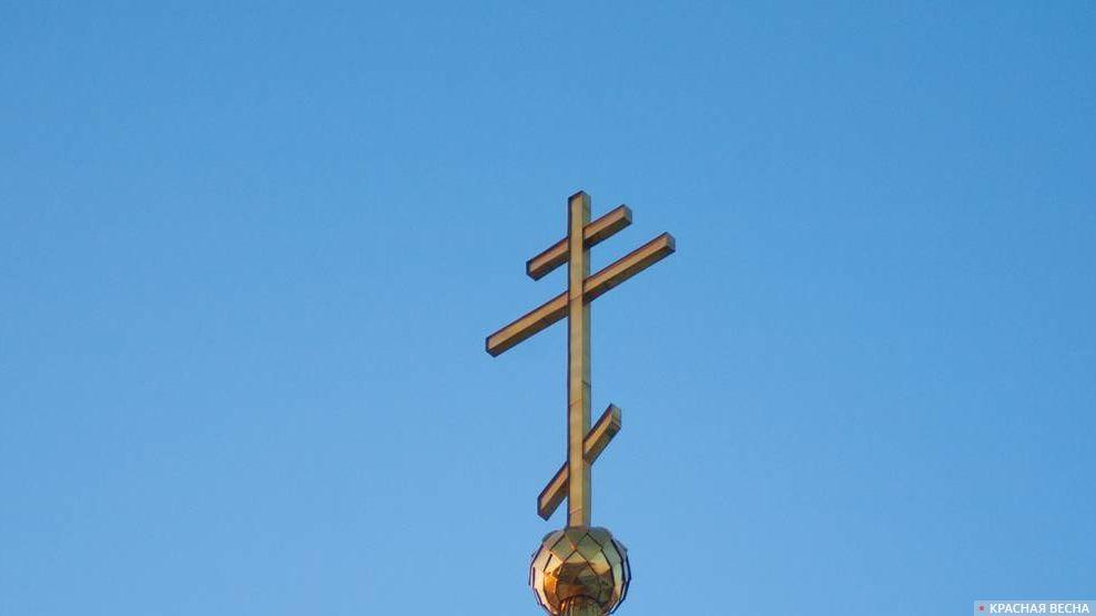 Купол Храма Храм Церковь Закат Крест