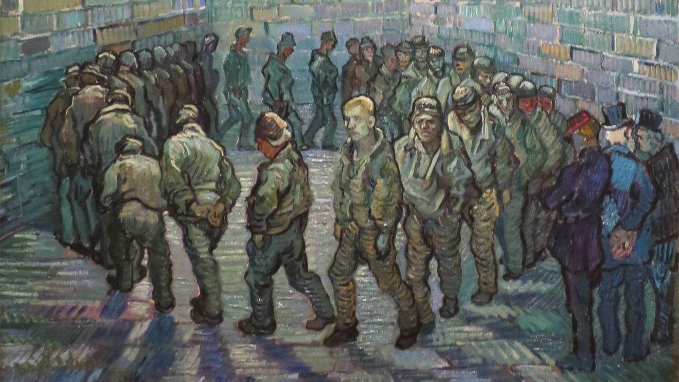 Прогулка заключённых. 1890