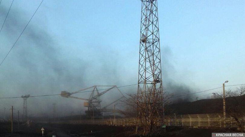 Перевалка угля в порту Находки