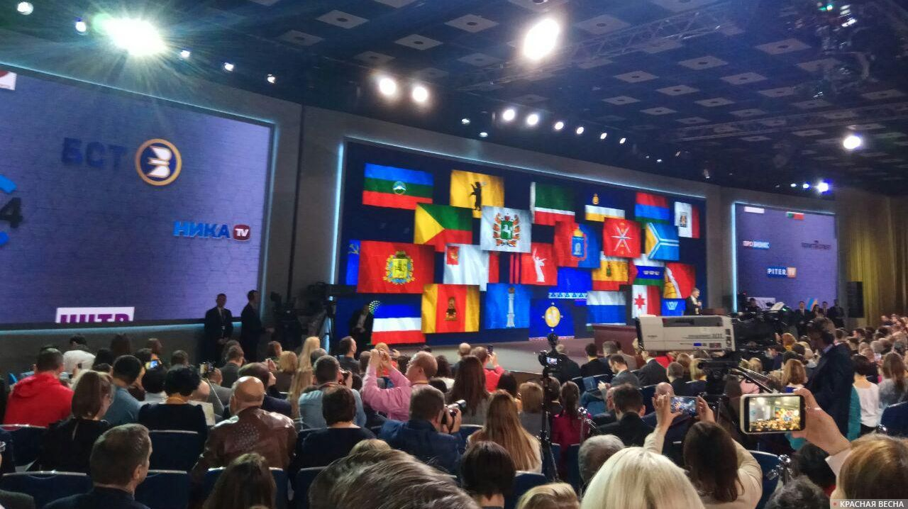 Все ждут появления президента