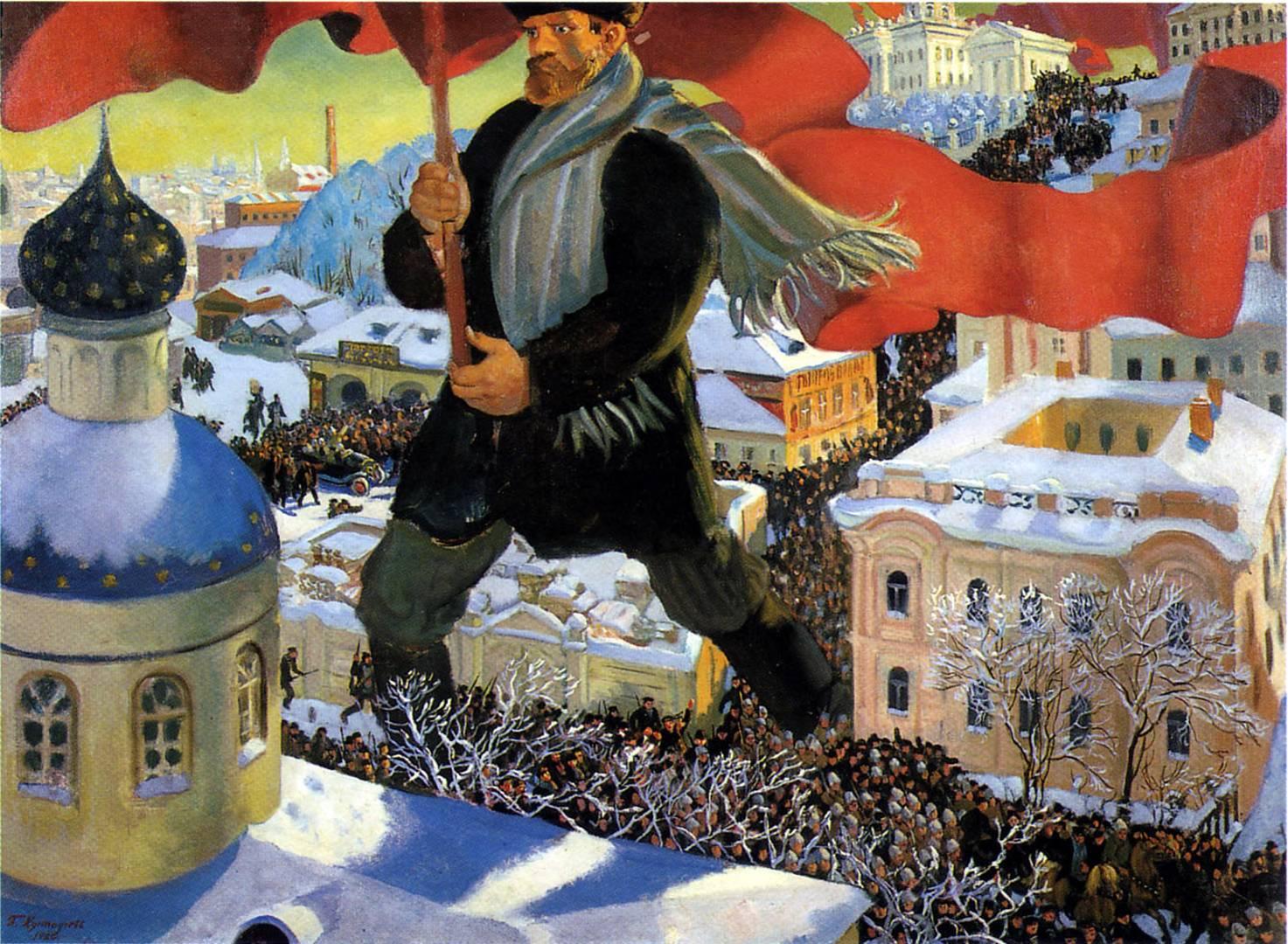 Борис Кустодиев. Большевик. 1920