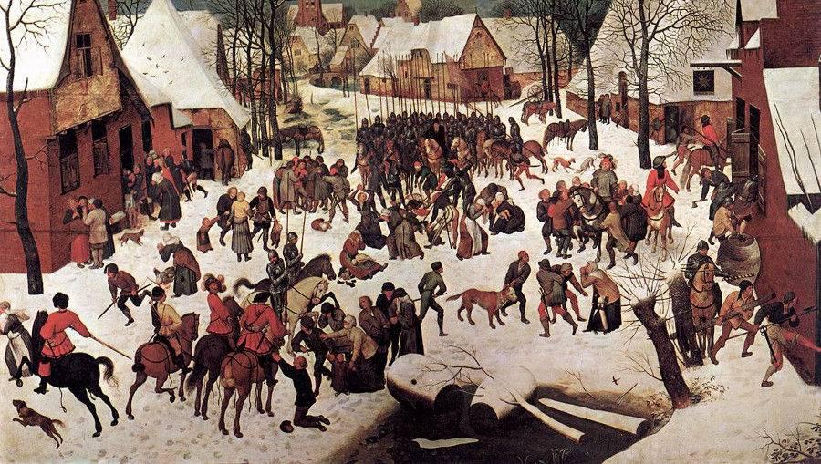 Питер Брейгель Старший. Избиение младенцев(фрагмент). 1566
