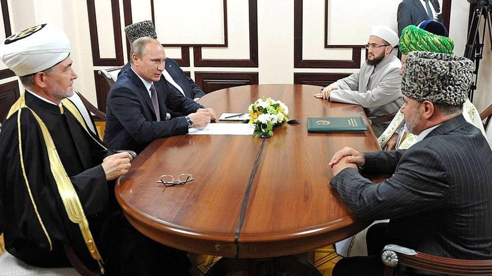 Встреча Путина с муфтиями духовных управлений мусульман России