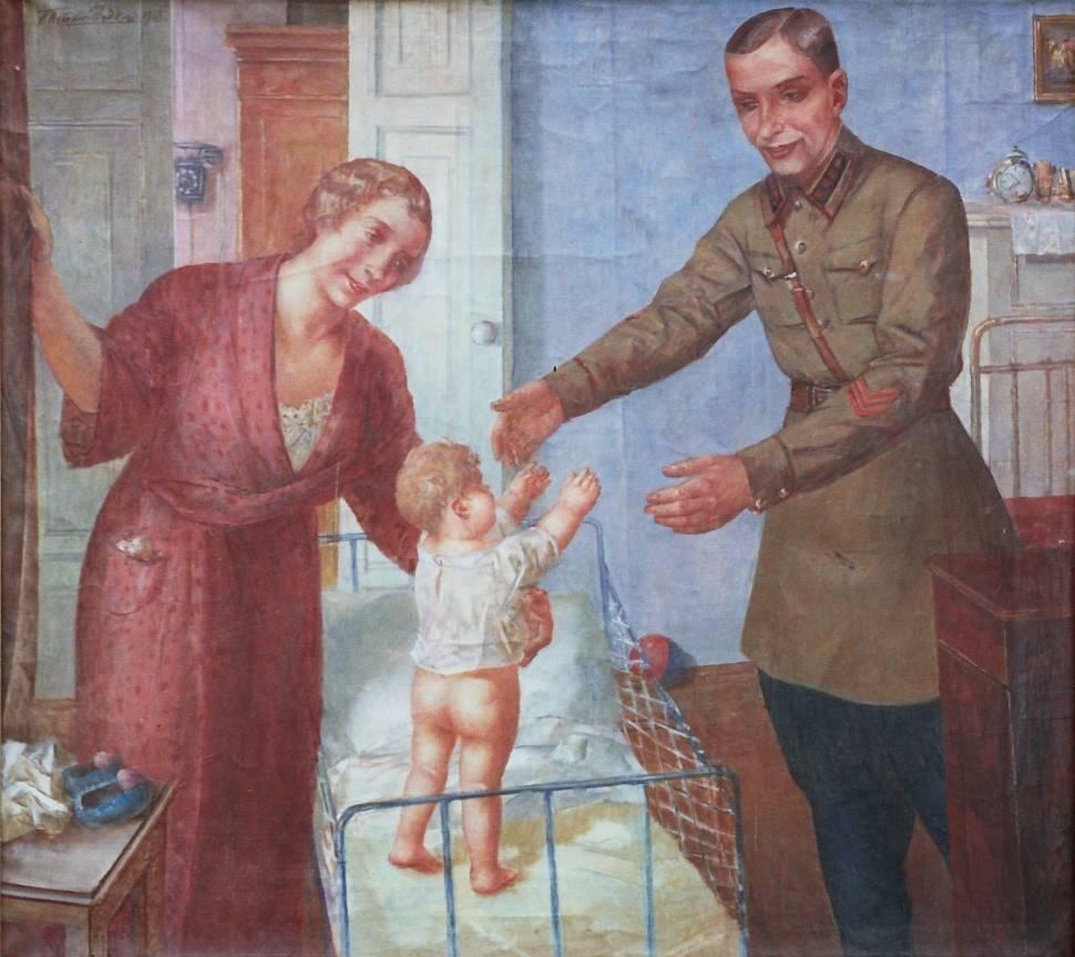 К.С. Петров-Водкин. Семья командира. 1938