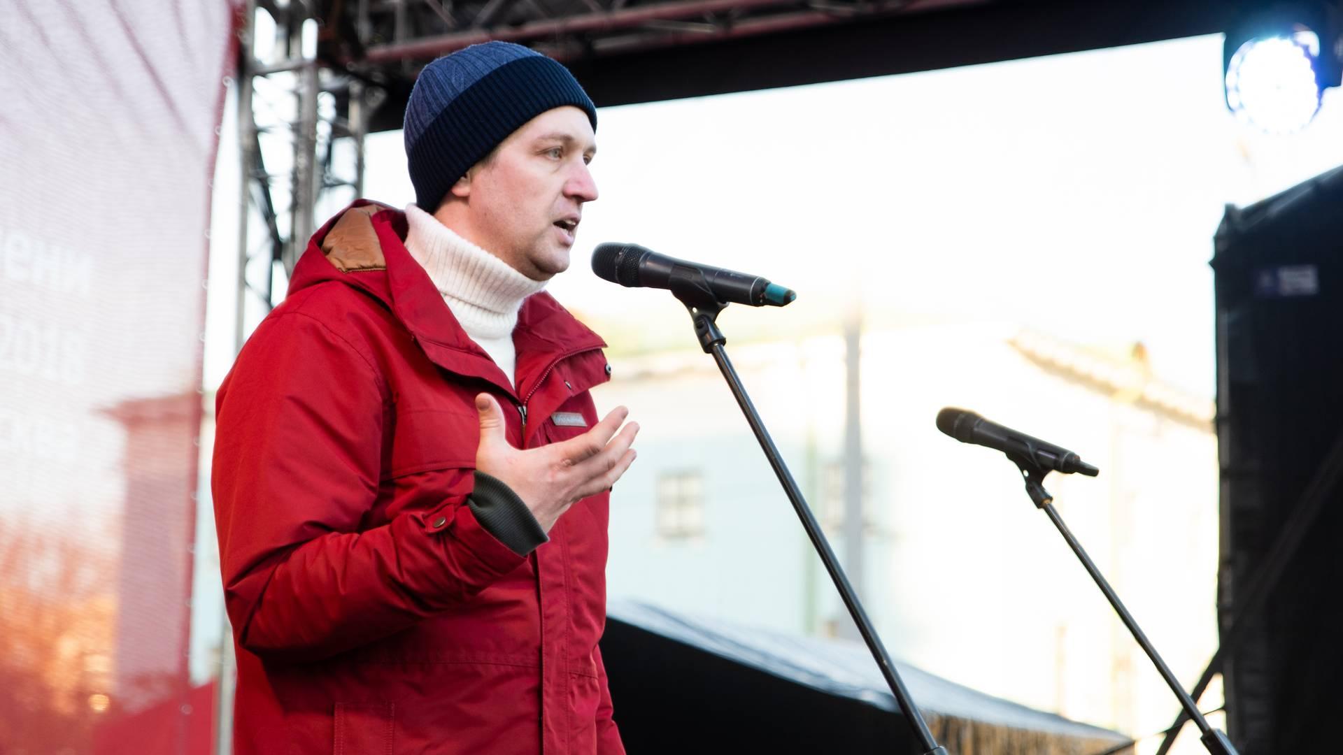 Алексей Кулаев на митинге «Сути времени»в Москве, 5 ноября 2018 г.