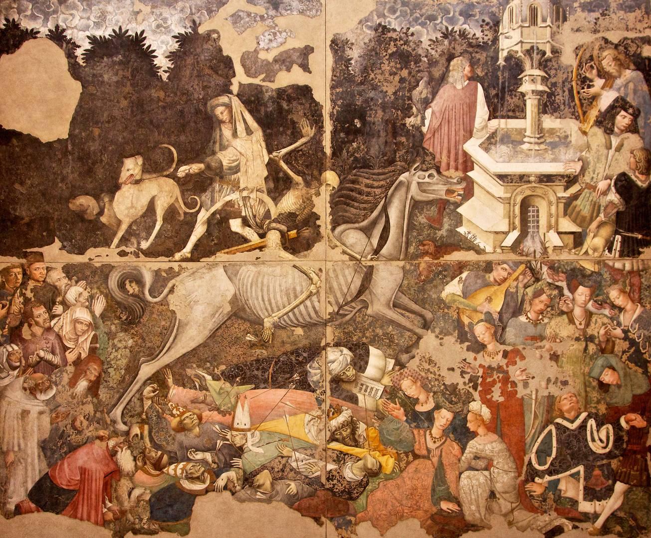 Триумф смерти. Фреска в палаццо Склафани, Палермо. 1446