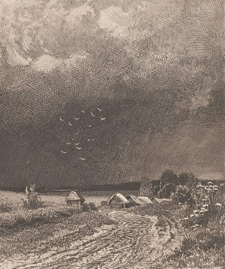 Иван Шишкин. Перед грозой. 1873
