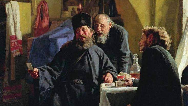 Николай Неврев. Монахи. 1880