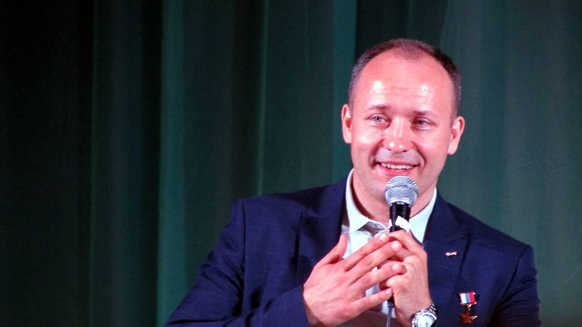 Встреча школьников с космонавтом Александром Мисуркиным. Орёл, 16.05.2018.