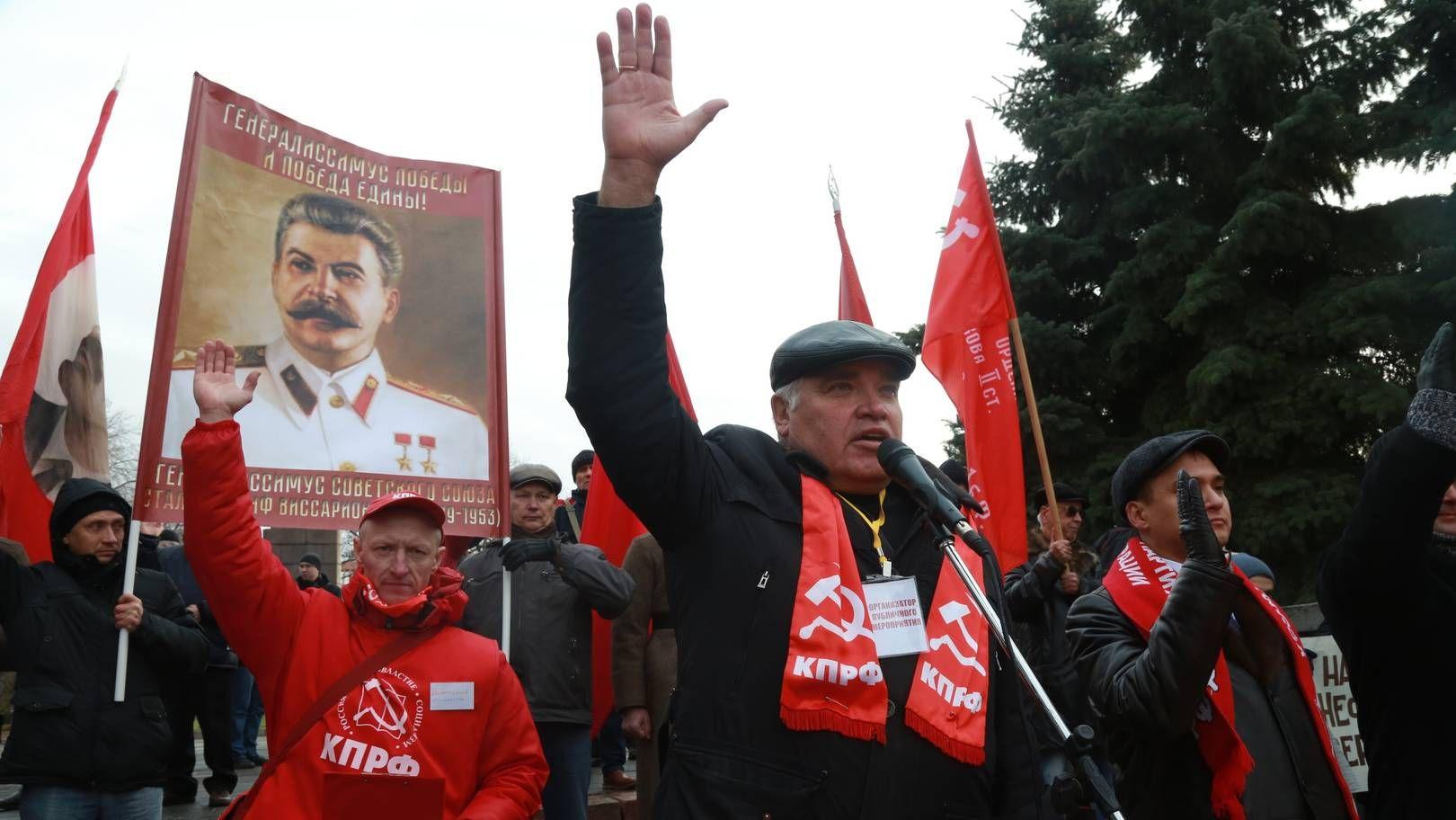 Митинг КПРФ в Омске