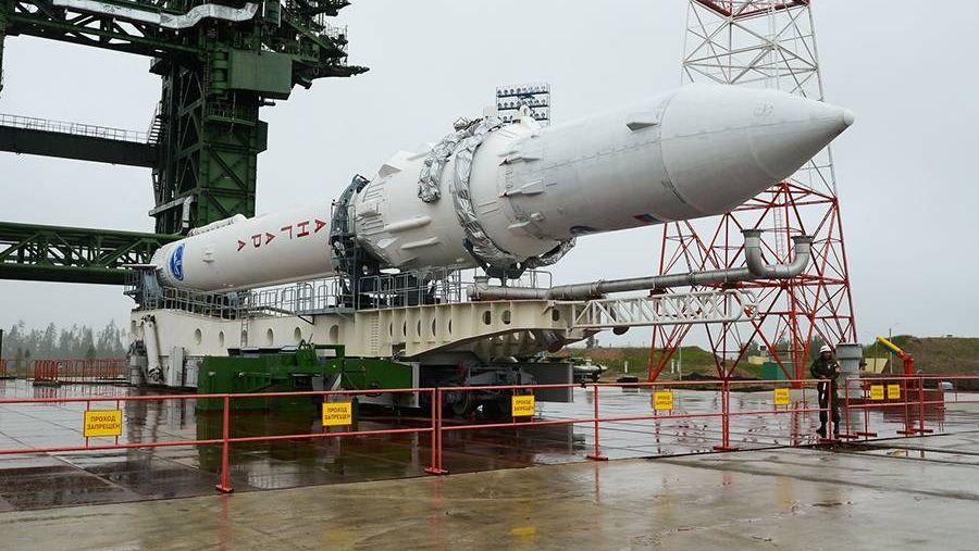 Вывоз и установка ракеты космического назначения «Ангара-1.2ПП» на стартовом комплексе космодрома Плесецк